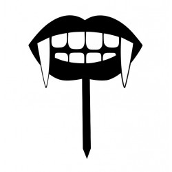'Улыбка вампира' топпер пластик