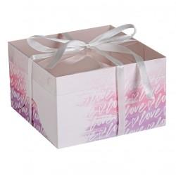 Коробка для капкейков на 4 ячейки LOVE 16*16*10см 4675054