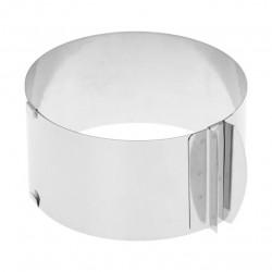 Рамка кондитерская раздвижная круглая металл ВЫСОТА 8СМ от 16-30 см