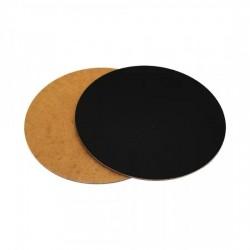Подложка для торта 30см круглая деревянная черная 3мм LP