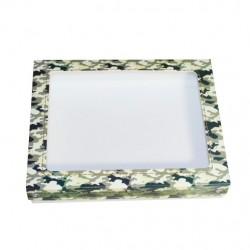 Коробочка с окном Камуфляжная квадратная 17*17*3,5 см (1511) ML*
