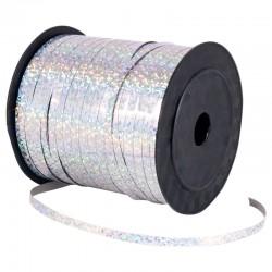 Лента для коробок голографическая Серебряная 0,5 см 220м 418032