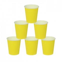 Стакан бумажный, однотонный, 205 мл, цвет жёлтый (5) 1419913