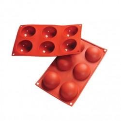 'Полусферы' силиконовая форма 70мм 6 ячеек