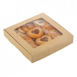 Коробка для пряников 16*16*3 см самосборная бесклеевая крафт 2968415