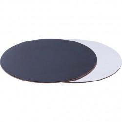Подложка 30 см усиленная круг черная-белая 2,5 мм