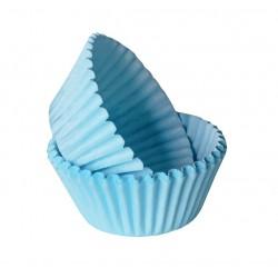 Формочки (мини) бумажные для конфет/кейкпопсов ГОЛУБОЙ 3см*2см (1 связка)