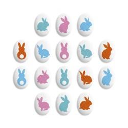 Медальоны Пасхальный кролик 5 шт 35*25мм