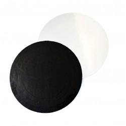 Подложка для торта черно белый картон КРУГ 30см 3,5мм (клен)