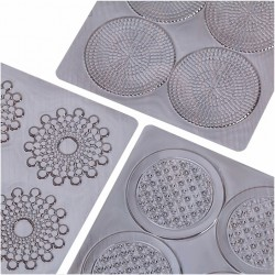 Точки Пузырьки Ромбы набор пластиковых текстур,3шт 1436142