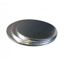Поднос для торта круг серебро картон 45см 11мм