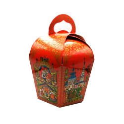 Коробка для кулича Красная d=110мм 1шт