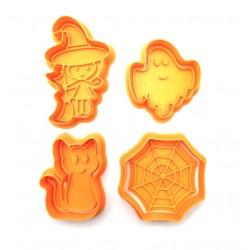 Хеллоуин. Набор форм для пряников с оттиском 4 шт LC-00009936 пластик