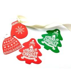 'Бирки новогодние' декоративное украшение картон
