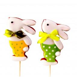 'Пасхальный кролик в штанишках' пряник на палочке,1шт
