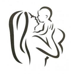Трафарет «Мама с ребенком» LC-00009237
