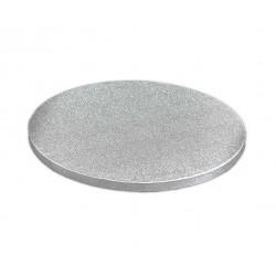 Поднос для торта круг картон серебро Англия 45см 13мм