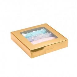 Коробка с окном, золотая, 19*19*3 (SM) 4588955