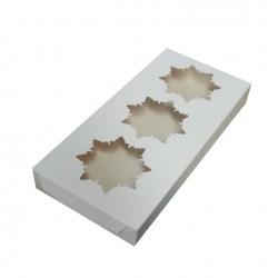 Коробка для пряников Новогодняя 26*12*3, белый, 1 шт