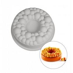 Корона с пузырьками силиконовая форма для выпечки/мусса 24*8 см