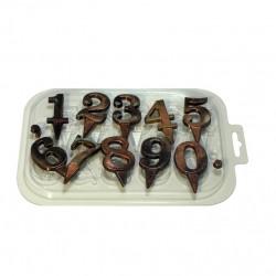 'Цифры на ножке' форма пластиковая для шоколада (MF)