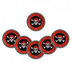 Тарелка бумажная «Пиратская», 18 см (10 шт) 1816492