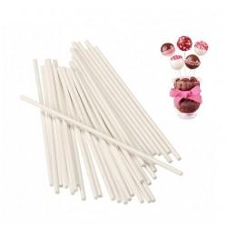 Палочки для кейкпопсов 'Белые плотные' упаковка 20шт 20см