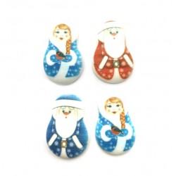 Медальоны Дед Мороз и Снегурочка 2 шт 35*23