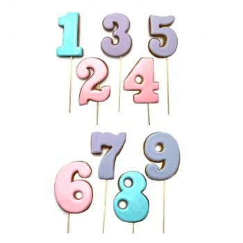 Цифры в ассортименте пряник на палочке 1 шт