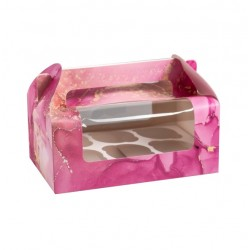 Коробка для капкейков на 6 ячеек сундучок Sweet dream 24*16*10 4807694 SM