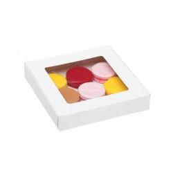 Коробка для пряников 16х16х3 см самосборная бесклеевая, белый
