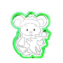 Трафарет+форма 'Новогодняя мышка' LC-00008911 пластик