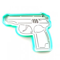 Трафарет+форма 'Пистолет' LC-00005688 пластик
