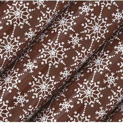 СНЕЖИНКИ БЕЛЫЕ переводные листы (трансфер) для шоколада 30х40см 1л