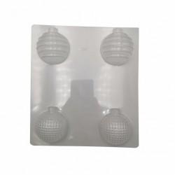 Пластиковая форма для шоколада Новогодние шары 2 50мм 51282