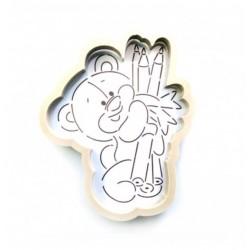 Трафарет+форма 'Мишка с карандашами 2' LC-00007157 пластик