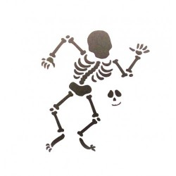 Трафарет 'Скелет' LC-00006518 пластик