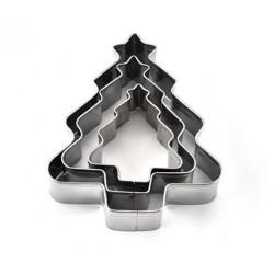'Елочки' набор вырубок для печенья металл 3шт