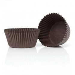 Формочки (мини) бумажные для конфет/кейкпопсов коричневый 30*23мм (1 связка)