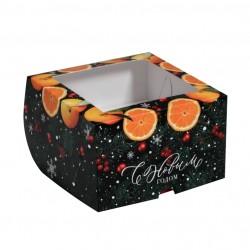 Коробка для капкейков на 4 ячеек НОВОГОДНЯЯ 16*16*10см 5117700