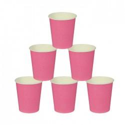 Стакан бумажный, однотонный, 205 мл, цвет розовый (5 шт) 1419915