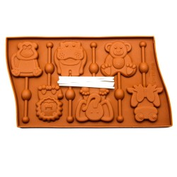 'Зверята' форма силиконовая для леденцов 2854632