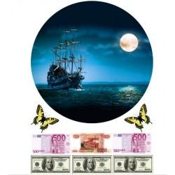 'Корабль1'вафельная картинка,A4