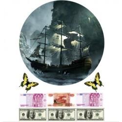 'Корабль2'вафельная картинка,A4