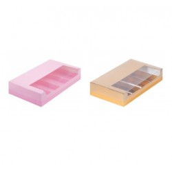 РАСПРОДАЖА_Коробка для эклеров на 5 ложментов 25*15*5 см цвет в ассортименьте