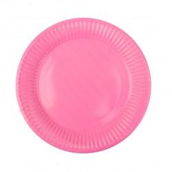 Тарелка бумажная, однотонная, розовый цвет, 18 см (10 шт) 1419921
