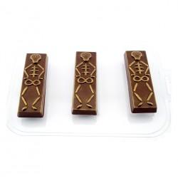 'Батончик скелеты' пластиковая форма для шоколада (MF)