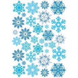 'Снежинки ассорти' вафельная картинка,A4