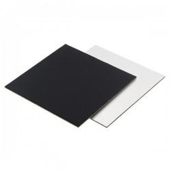 Подложка для торта квадрат черно белый картон 30см 2,5мм (клен)