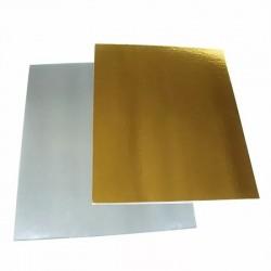 РАСПРОДАЖА Подложка 30*40 см плотная прямоугольная 1,75мм,серебро